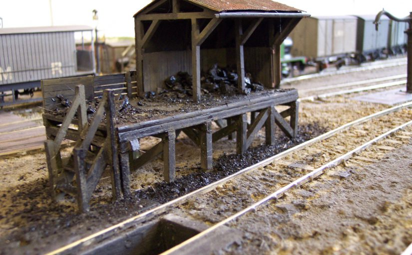 Coal stage at Ash Valley engine shed