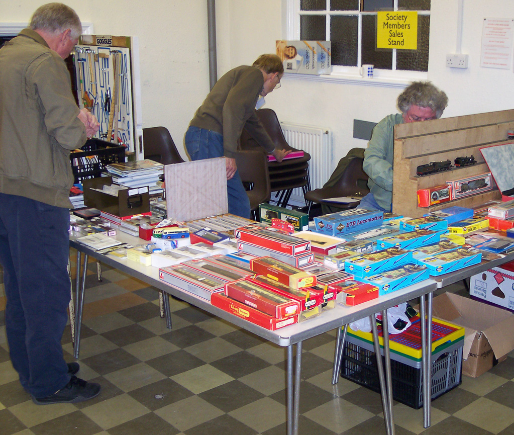 The Club sales stand- second hand bargains to browse and be tempted by!