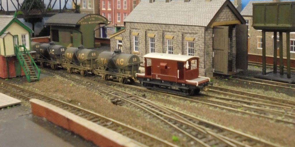 Figgton freight-Tarmac tank cars and NE region brake van