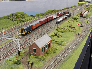 Hazel Valley transfer freight hauled by class 08 shunter
